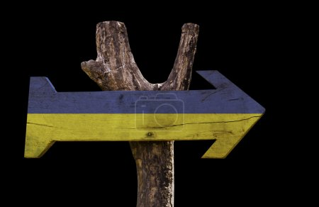 Ukraine wooden sign