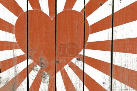Japanese Heart Flag