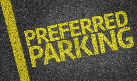 Parking space reserved for Preferred shoppers