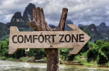 Comfort Zone wooden sign