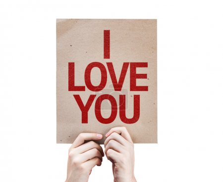 I Love You card on paper