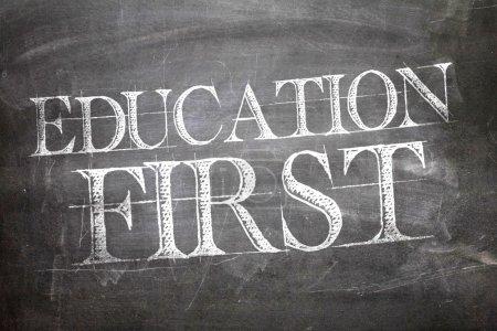 Education First on blackboard