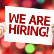We are Hiring card with colorful background with d...