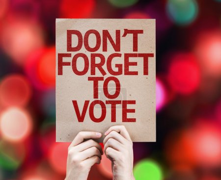 Don't Forget to Vote card