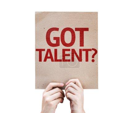 Photo pour Tu as du talent ? carte isolée sur fond blanc - image libre de droit