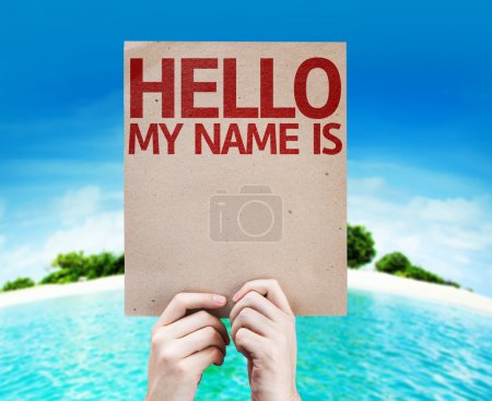 Hello My Name Is card