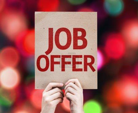Job Offer card