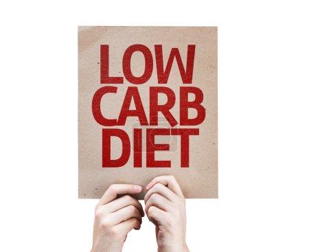 Photo pour Carte Low Carb Diet isolé sur fond blanc - image libre de droit