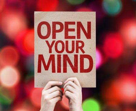 Photo pour Carte visible de votre esprit avec un fond coloré avec des lumières défocalisés - image libre de droit
