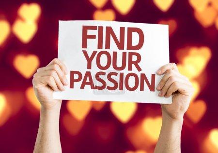 Photo pour Trouvez votre carte Passion avec fond coeur bokeh - image libre de droit