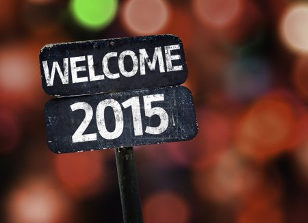 Welcome 2015 sign