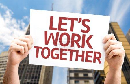 Let's Work Together card