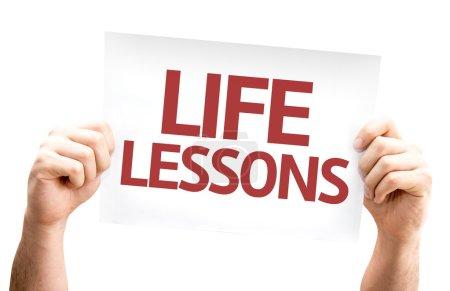 Photo pour Carte Leçons de Vie isolée sur fond blanc - image libre de droit