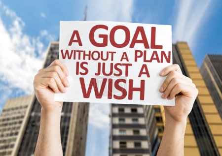 Photo for A Goal without a Plan is Just a Wish card with an urban background - Royalty Free Image