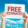 Free Estimates card with sky background...