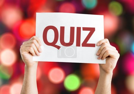 Quiz card with colorful background