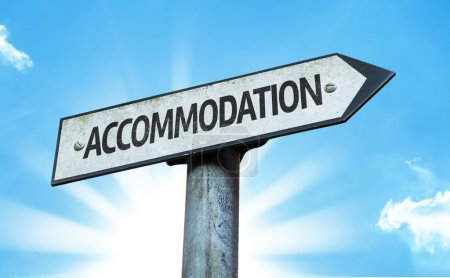 Text:Accommodation on sign