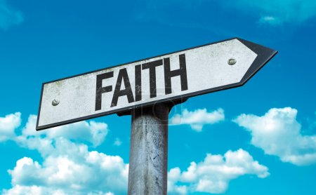 Text : Faith on sign