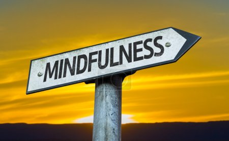 Text:Mindfulness on sign