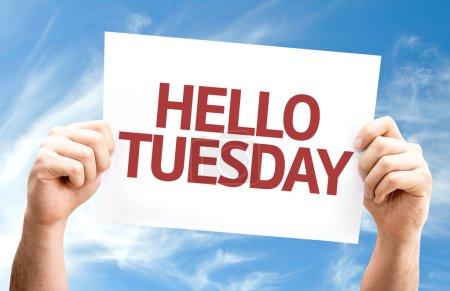 Hello Tuesday card