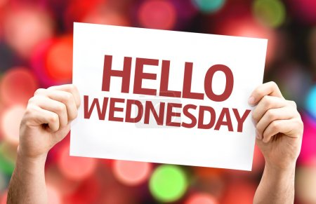 Hello Wednesday card