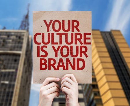Photo for Your Culture is Your Brand card with urban background - Royalty Free Image