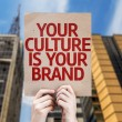 Your Culture is Your Brand card with urban backgro...
