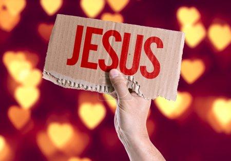 Jesus card in hand