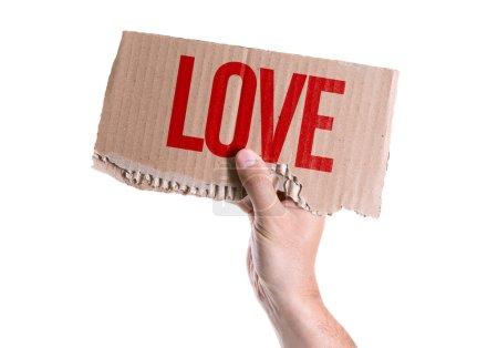 Love card in hand