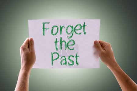 Photo for Forget the Past card with green background - Royalty Free Image