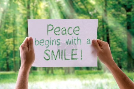 Peace Begins with a Smile card