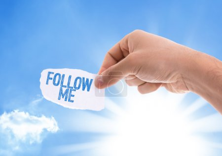 Follow Me piece of paper