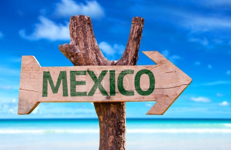 Mexico wooden sign