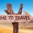 Time to Travel wooden sign with arrow...