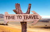 Time to Travel wooden sign