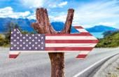 Znak vlajka Spojených států
