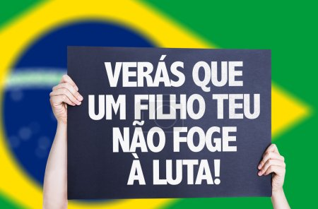 You will see that your son does not escape the fight (in Portuguese) card