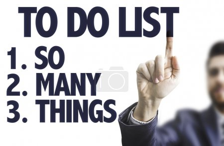 Text: To Do List - So Many Things