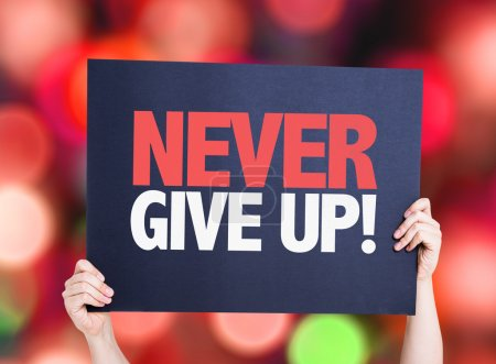 Never Give Up card