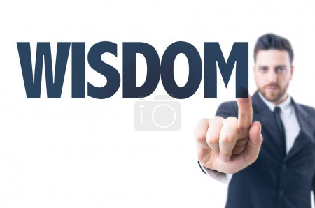 Man with text: Wisdom
