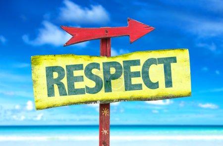 Texte : Respect le signe