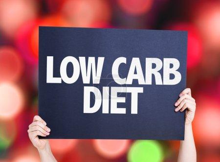 Photo pour Low Carb Diet carte avec fond bokeh - image libre de droit