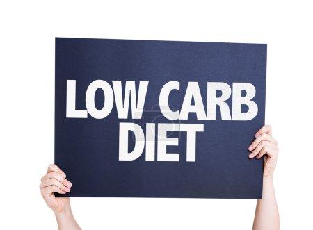 Photo pour Low Carb Diet carte isolée sur fond blanc - image libre de droit