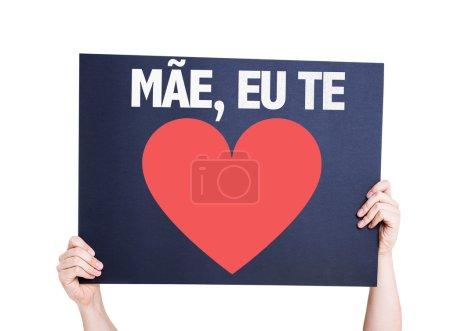 Photo pour Carte Mère je t'aime (en portugais) isolée sur fond blanc - image libre de droit