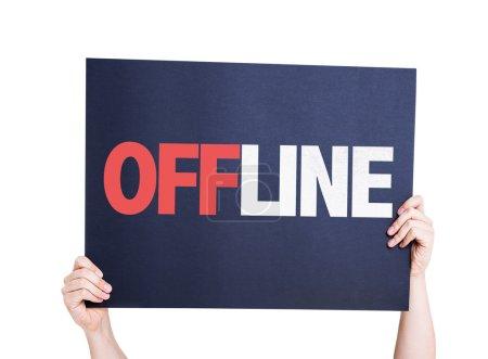 Offline text card