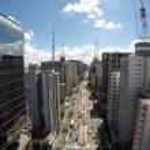 Aerial View of the famous Avenida Paulista (Paulis...