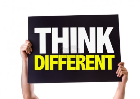 Photo pour Pensez carte différente isolé sur fond blanc - image libre de droit