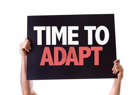 Photo pour Carte de temps à s'adapter, isolé sur fond blanc - image libre de droit