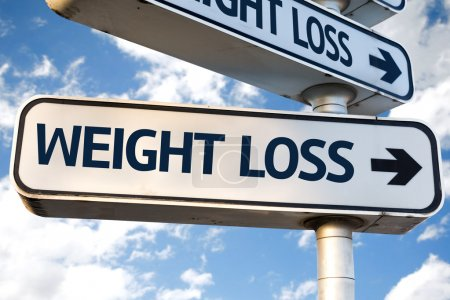 Photo for Weight Loss direction sign on sky background - Royalty Free Image