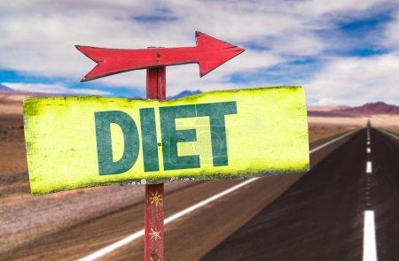 diet text sign